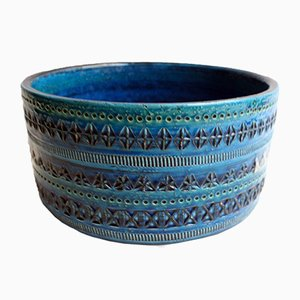 Rimini Blue Ceramic Bowl by Aldo Londi for Bitossi