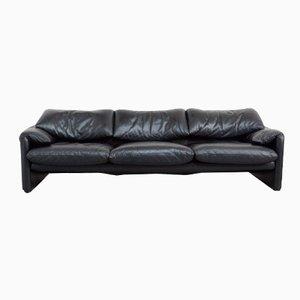 Maralunga Drei-Sitzer Sofa von Vico Magistretti für Cassina