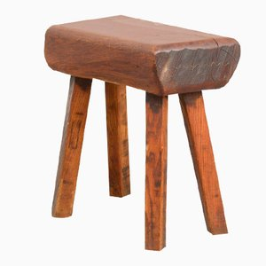 Vintage Wooden Block Stool