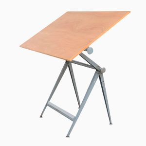 Large Drafting Table Desk by Friso Kramer & Wim Rietveld for Ahrend De Cirkel