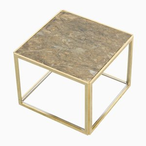 French Brass Side Table by Jean Charles, 1970s