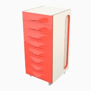 Red FR2000 Valet Cabinet by Raymond Loewy for Doubinsky Frères