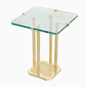 Table d'Appoint Vintage en Laiton par Peter Ghyczy