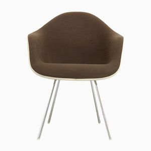 Brown & White Armchair by Charles and Ray Eames for Herman Miller