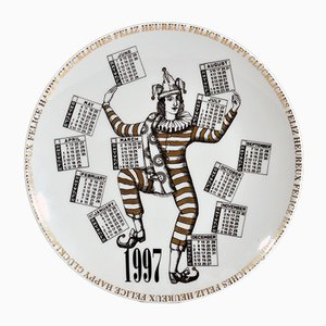 Year 1997 Calendar Plate by Barnaba Fornasetti