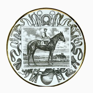 No. 10 Race Horse Plate by Piero Fornasetti