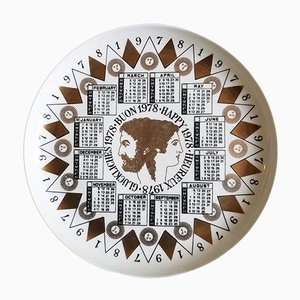 Fornasetti Calendar Plate for 1978 by Piero Fornasetti