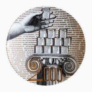 Fornasetti Calendar Plate for 2000 by Barnaba Fornasetti