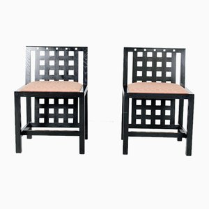 DS3 Chairs by Charles Rennie Mackintosh, 1980s, Set of 2