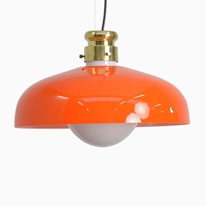 Orange Murano Glass Pendant Lamp by Alessandro Pianon for Vistosi
