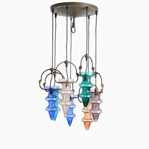 Colored Glass Chandelier by Nanny Still McKinney for Raak