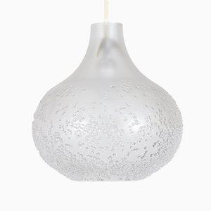 Lámpara colgante de cristal grabado de Peill & Putzler