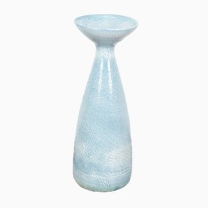 French Blue Vase from Accolay Ceramic Studio, 1970s