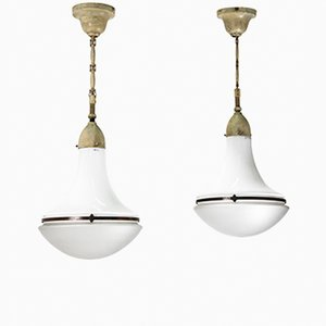 Luzette Pendant Lights by Peter Behrens for Siemens, 1908, Set of 2