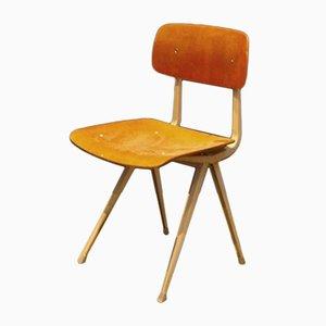 Silla Result de madera y acero de Friso Kramer para Ahrend de Cirkel, años 60