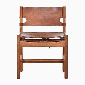 Chaise Chasseur Modèle 3251 Mid-Century par Borge Mogensen pour Fredericia Furniture