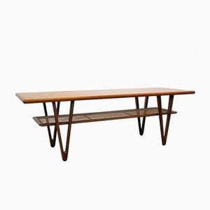 Table Basse Mid-Century Moderne en Teck, 1950s