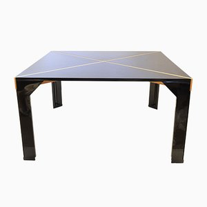 Black Dining Table by Vico Magistretti
