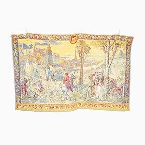 Large Vintage Belgian Gobelin Style Tapestry