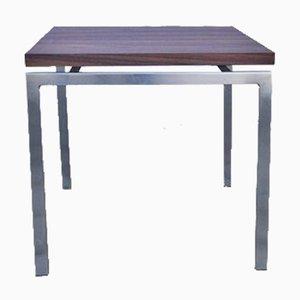 Tavolino in palissandro e metallo cromato