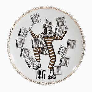 Italian Fornasetti Calendar Plate for 1997 by Barnaba Fornasetti, 1996