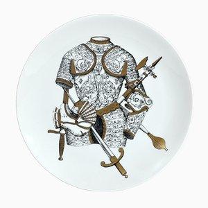 Assiette Vintage avec Armure par Piero Fornasetti, Italie, 1960s