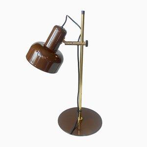 Lámpara de mesa Peanut danesa de latón de Jo Hammerborg para Fog & Mørup, años 70