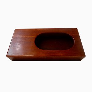Mid-Century Danish Solid Siamese Teak Matchbox Holder by Wiggers for Illums Bolighus, 1960s