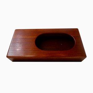 Recipiente para caja de cerillas danés Mid-Century de teca Siamese de Wiggers para Illums Bolighus, años 60