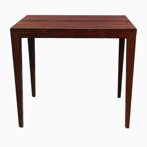 Danish Mid-Century Rosewood Side Table by Severin Hansen Junior for Haslev Møbelsnedkeri, 1960s