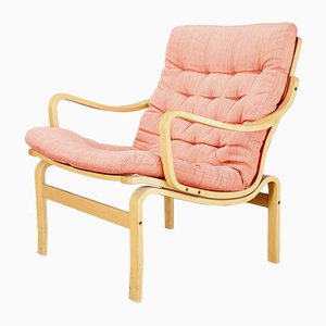 Swedish Mid-Century Beech Easy Chair by Bruno Mathsson