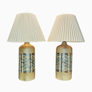 Lampes de Bureaux en Céramique par Elspeth Cohen pour Lapid Pottery Works, Set de 2