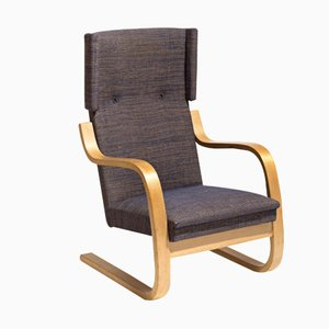 Vintage 36/401 Wingback Lounge Chair by Alvar Aalto for Artek