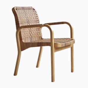 Finnischer Mid-Century Modell 45 Armlehnstuhl von Alvar Aalto für Artek