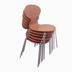Ant Chairs by Arne Jacobsen for Fritz Hansen, 1965, Set of 6