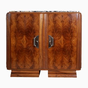 Art Deco Walnut Sideboard from Guerin, 1920s