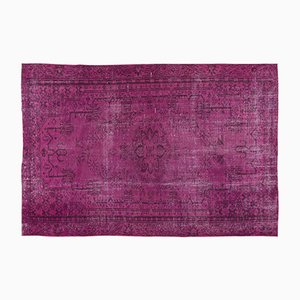 Fuchsia Overdyed Turkish Rug