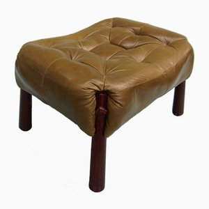 Palisander & Leather Ottoman von Percival Lafer, 1970er
