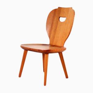 Chaise d'Appoint en Pin par Carl Malmsten pour Svensk Fur, Suède, 1950s