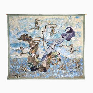 Wool and Watercolor Tapestry by Rita Mortensen