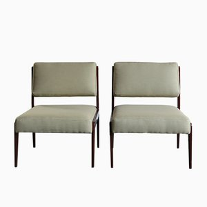 Italian Padded Chairs, 1960s, Set of 2