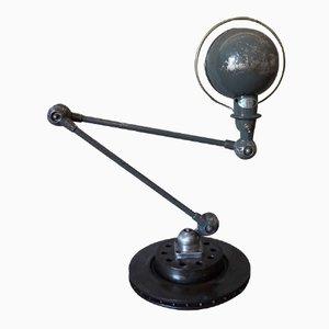 Lámpara de escritorio industrial articulada vintage gris de Jieldé, años 50