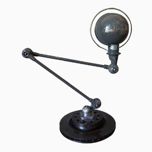 Vintage Grey Industrial Articulated Desk Lamp from Jieldé, 1950s