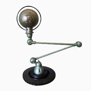 Lámpara de escritorio industrial articulable en verde de Jieldé, años 50