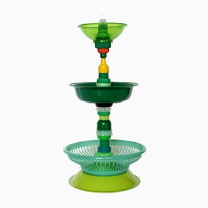 Multiplastica Domestica Large Tiered Fruit Bowl in Green by Brunno Jahara