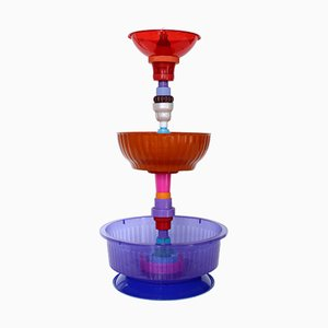Multiplastica Domestica Large Tiered Fruit Bowl in Purple by Brunno Jahara