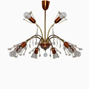 Viennese Crystal Ceiling Light by Emil Stejnar for Rupert Nikoll, 1950s