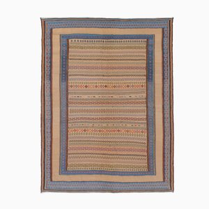 Middle Eastern Multicolored Embroidered Kilim Rug from FJ Hakimian, 2002
