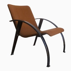 Steel & Fabric Lounge Chair, 1960s