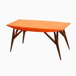 Mesa de centro italiana con incrustaciones de madera de Luigi Scremin, 1950